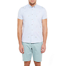 Buy Ted Baker Tropic Cotton Embroidered Short Sleeve Shirt Online at johnlewis.com
