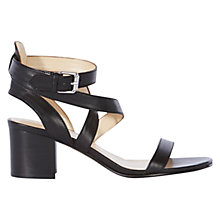 Buy Karen Millen Block Heeled Day Sandals, Black Online at johnlewis.com