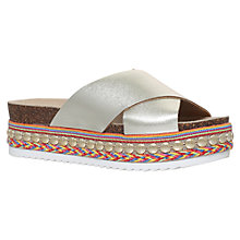 Buy Carvela Kake Flatform Slider Sandals, Gold Online at johnlewis.com