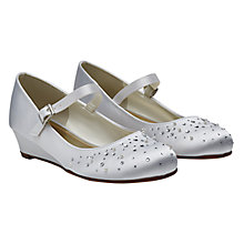 Buy Rainbow Club Children's Nutmeg Sparkle Bridesmaid Shoes, White Communion Online at johnlewis.com