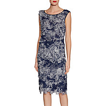 Buy Gina Bacconi Fringe Chiffon Skirt, Navy Online at johnlewis.com