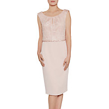Buy Gina Bacconi Mosaic Sequin Embroidery Bodice Dress, Apricot Crush Online at johnlewis.com