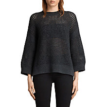 Buy AllSaints Eden Wool Blend Crew Neck Jumper, Charcoal Grey Online at johnlewis.com