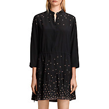 Buy AllSaints Lin Estrela Silk Shirt Dress, Dark Blue Online at johnlewis.com