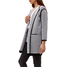 Buy Jaeger Check Knitted Jacket, Black/Ivory Online at johnlewis.com