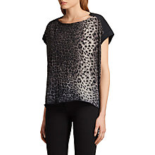 Buy AllSaints Fadeout Adersi Pina T-Shirt, Faded Black Online at johnlewis.com