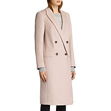 Buy AllSaints April Wool Silk Blend Coat, Dusty Pink Online at johnlewis.com