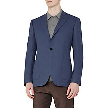 Buy Reiss Burling Peak Lapel Wool Modern Fit Blazer, Airforce Blue Online at johnlewis.com