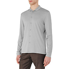 Buy Reiss Loud Relaxed Cotton Shirt, Silver Online at johnlewis.com