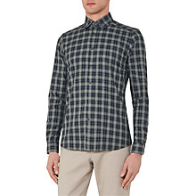 Buy Reiss Saint Check Slim Fit Shirt, Green Online at johnlewis.com