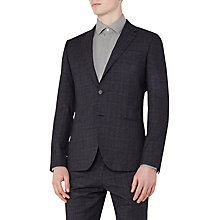Buy Reiss Hank Check Slim Fit Blazer, Navy Online at johnlewis.com