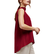 Buy Jaeger Silk Cowl Neck Top, Bordeaux Online at johnlewis.com