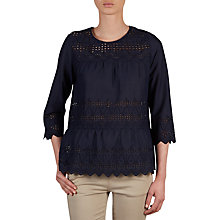 Buy Gerard Darel Cruz Blouse, Navy Blue Online at johnlewis.com