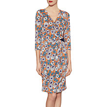 Buy Gina Bacconi Flower Print Jersey Dress With Sequins, Orange Online at johnlewis.com