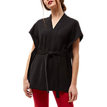 Buy Jaeger Belted Fluid Top, Black Online at johnlewis.com