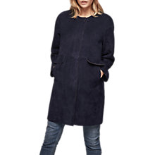 Buy Gerard Darel Valma Coat, Midnight Blue Online at johnlewis.com