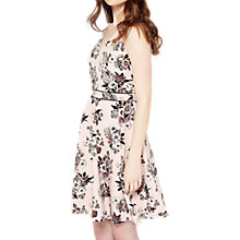 Buy Miss Selfridge Floral Fit And Flare Dress, Pink Online at johnlewis.com