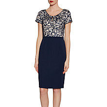 Buy Gina Bacconi Embroidered Sequin Bodice Dress, Spring Navy Online at johnlewis.com