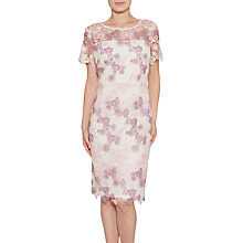 Buy Gina Bacconi Dainty Three Tone Guipure Lace Dress, Summer Plum Online at johnlewis.com