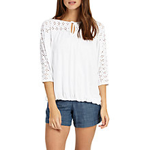 Buy Phase Eight Betty Blouson Top, White, White Online at johnlewis.com