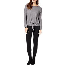 Buy Phase Eight Jolanda Tie Front Knit Jumper, Grey Marl Online at johnlewis.com