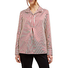 Buy Jaeger Stripe Shirt, Red/Neutral Online at johnlewis.com