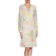 Buy Gina Bacconi Watercolour Floral Print Chiffon Dress, Multi Online at johnlewis.com