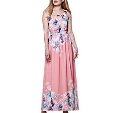Buy Yumi Floral Print Maxi Dress, Pink Online at johnlewis.com