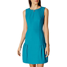 Buy Karen Millen Colourful Crepe Dress, Teal Online at johnlewis.com