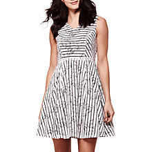 Buy Yumi Stripe Lace Sleeveless Fit And Flare Dress, Ivory Online at johnlewis.com