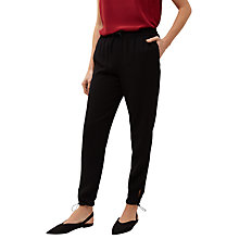 Buy Jaeger Toggle Detail Trousers, Black Online at johnlewis.com