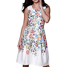 Buy Yumi Floral V-Neck Occasion Dress, Ivory Online at johnlewis.com