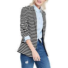 Buy Oasis Stripe Ponte Jacket, Black/White Online at johnlewis.com