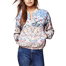 Buy Yumi Floral Bomber Jacket, Soft Pink Online at johnlewis.com