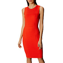 Buy Karen Millen Bubble Stitch Knit Pencil Dress, Orange Online at johnlewis.com
