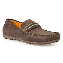 Buy Geox Snake Moccasin Shoes, Chocolate Online at johnlewis.com