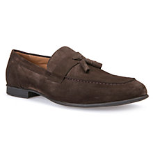 Buy Geox Wilburg Suede Loafers, Chocolate Online at johnlewis.com