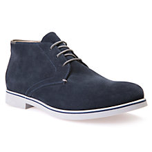 Buy Geox Danio Suede Chukka Boots, Navy Online at johnlewis.com