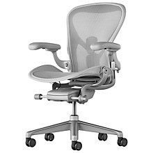 Buy Herman Miller Aeron Remastered Office Chair, Mineral Online at johnlewis.com