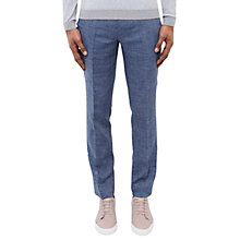 Buy Ted Baker Gridtro Trousers, Navy Online at johnlewis.com