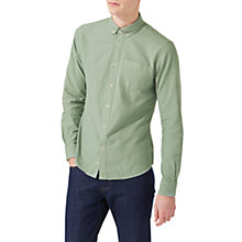 Buy Jigsaw Garment Dye Oxford Button Down Shirt Online at johnlewis.com