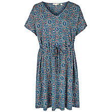 Buy Fat Face Eliza Jewel Geo Print Dress, Indigo/Multi Online at johnlewis.com