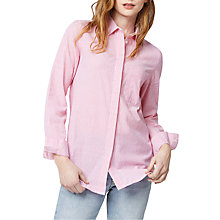 Buy Warehouse Casual Seersucker Stripe Shirt, Pink Online at johnlewis.com