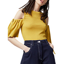 Buy Warehouse Textured Cold Shoulder Top Online at johnlewis.com