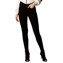Buy Karen Millen High Waisted Eyelet Jeans, Black Online at johnlewis.com