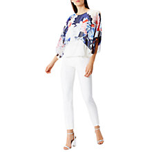 Buy Coast Nate Floral Print Layered Top, Multi Online at johnlewis.com