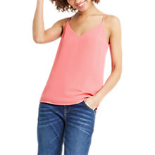 Buy Oasis V-Neck Cami, Mid Pink Online at johnlewis.com