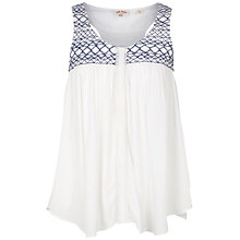 Buy Fat Face Thorness Embroidered Camisole, Ivory Online at johnlewis.com