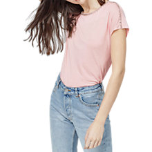 Buy Warehouse Diamante Trim T-Shirt Online at johnlewis.com