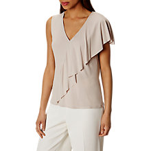 Buy Karen Millen Frill Jersey Top, Neutral Online at johnlewis.com